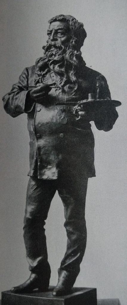 Vincenzo Gemito Il pittore Meissonier in bronzo