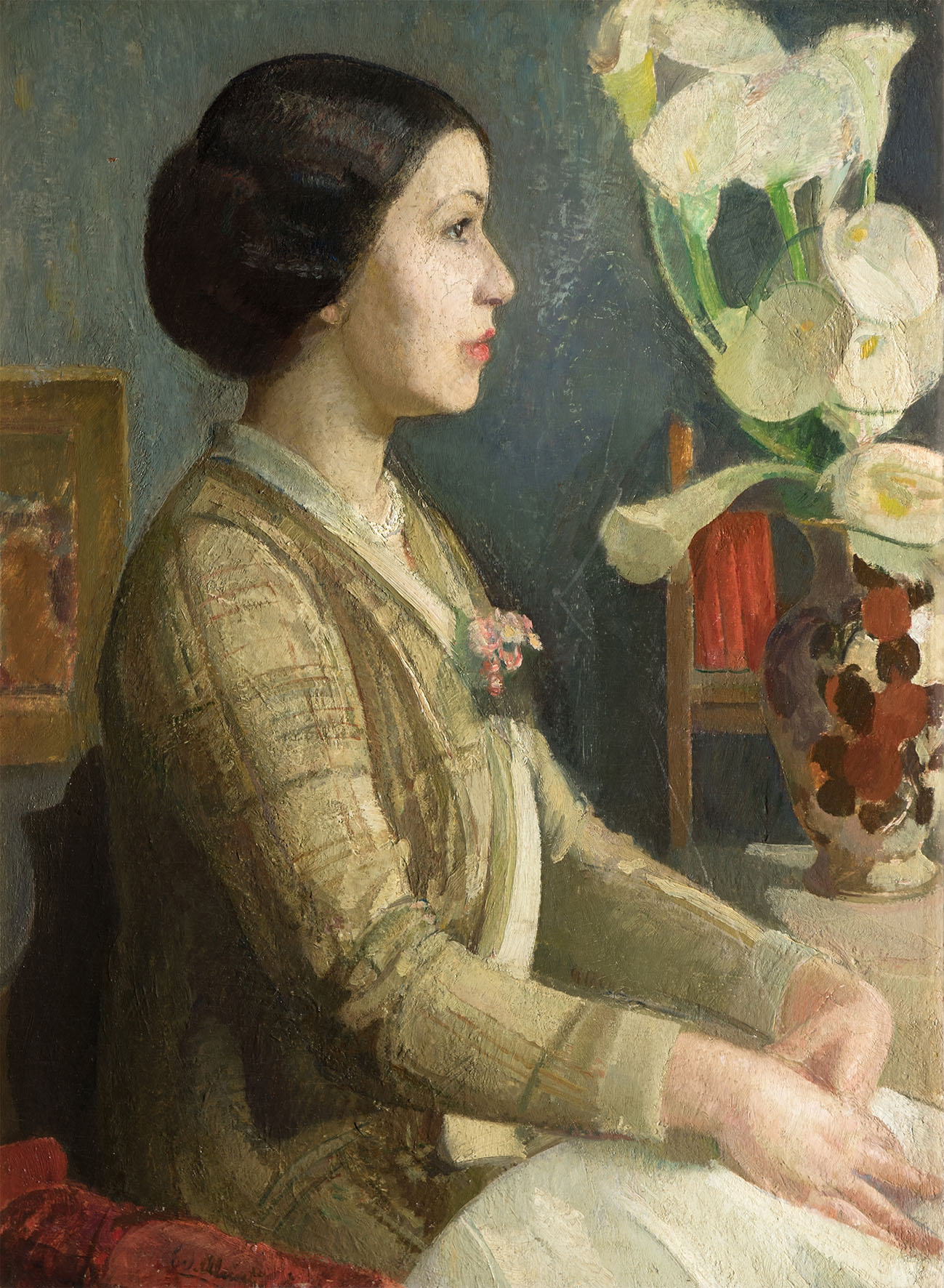 EVANGELINA ALCIATI Ritratto di Fiorenza Boccalatte 1935 olio su tela