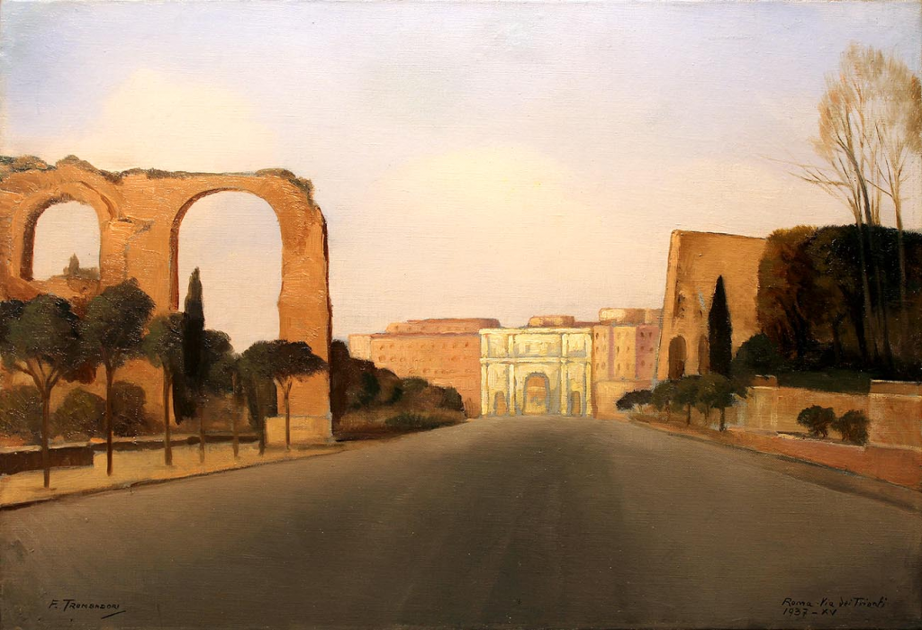 Francesco Trombadori Via dei Trionfi a Roma
