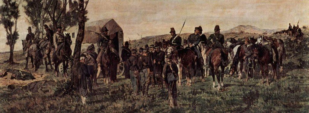 Giovanni Fattori Principe Amadeo feritio a Custoza 1870