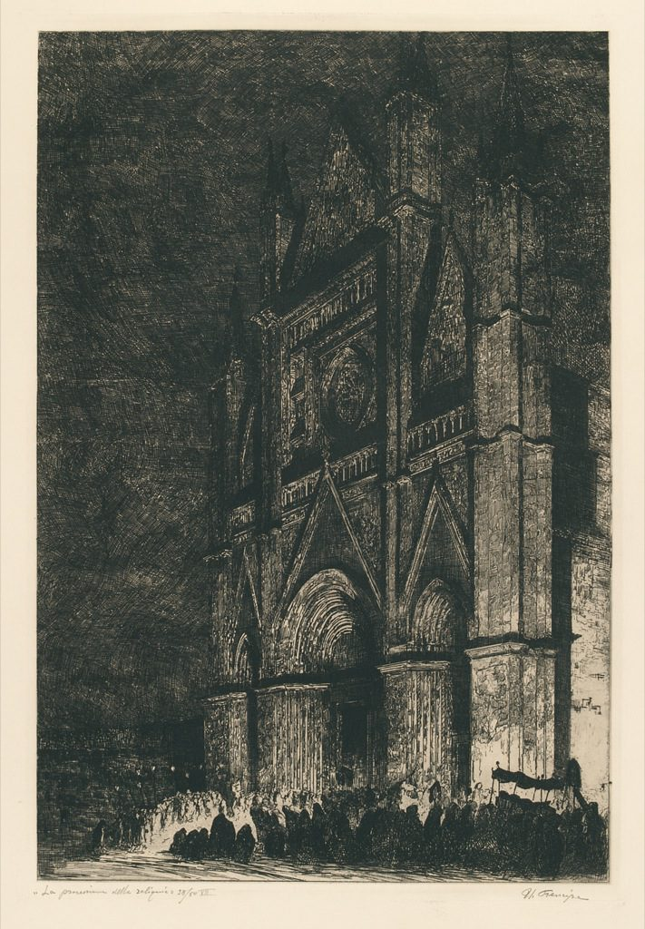 Umberto Prencipe incisione Duomo di Orvieto