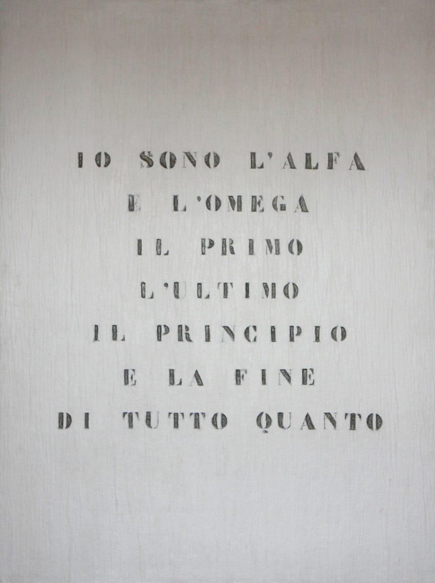 Vincenzo Agnetti Ritratto di Dio