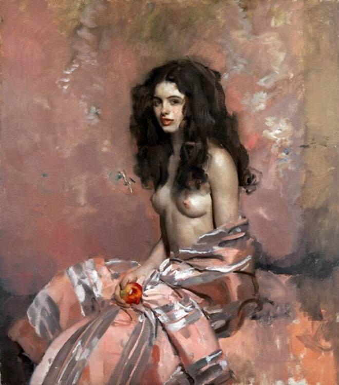 Ambrogio Antonio Alciati la modella con la mela