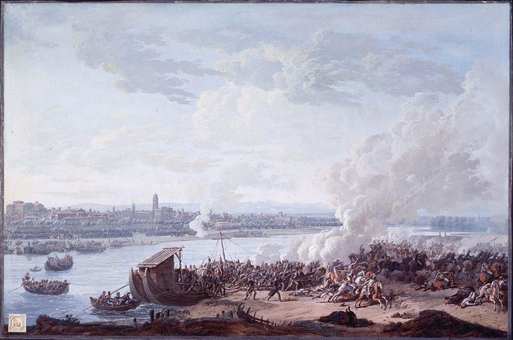 Giuseppe Pietro Bagetti I Francesi passano il Po a Piacenza