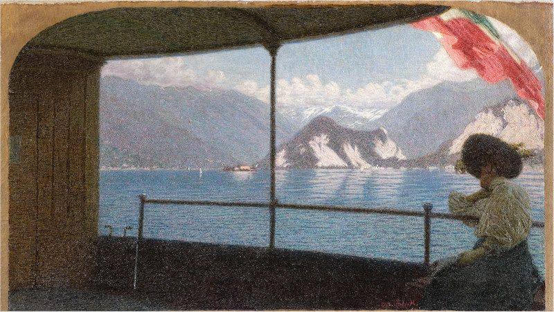 Angelo Morbelli Battello sul Lago Maggiore