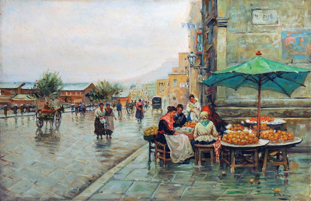 Attilio Pratella La piazza del Mercato