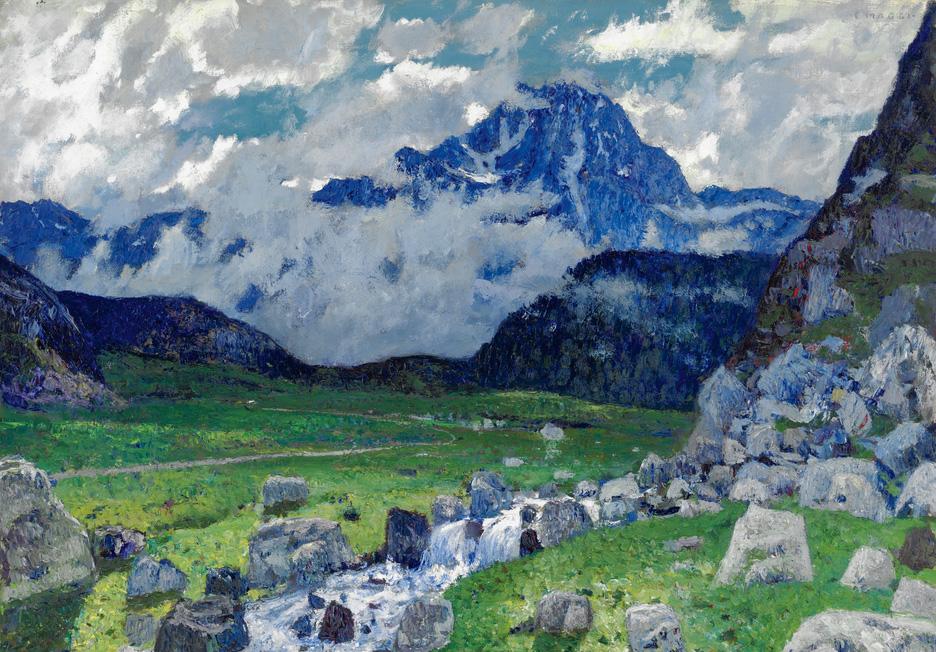 Cesare Maggi - Paesaggio di montagna