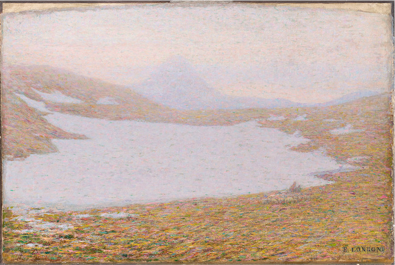 Emilio Longoni Primavera in alta montagna