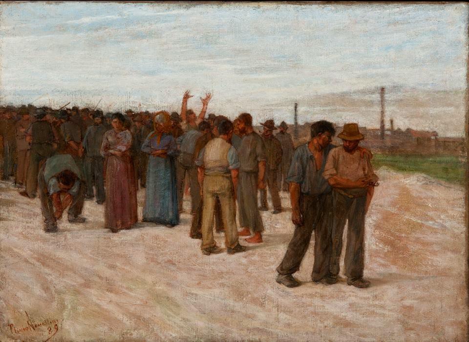 Plinio Nomellini sciopero Londinese 1889