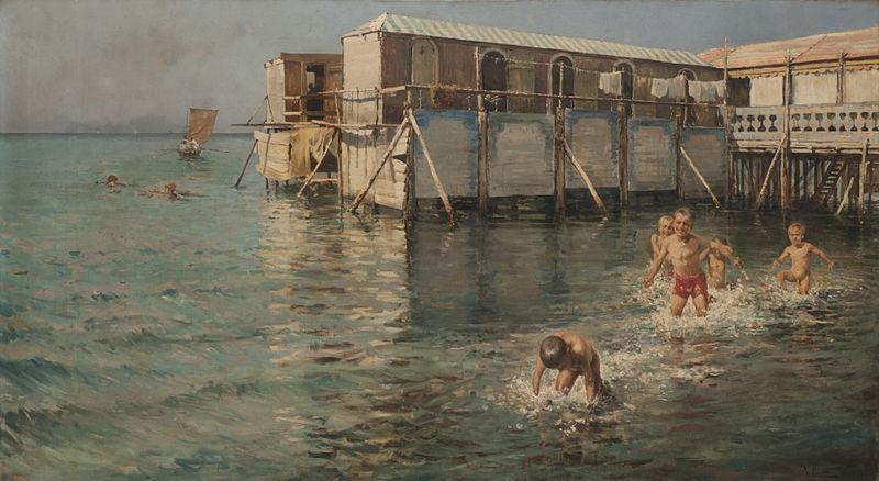 Baños de mar Guaglioni Vincenzo Caprile