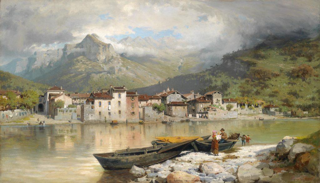Ercole Calvi Famiglia pescatore a Lecco sul lago di Como