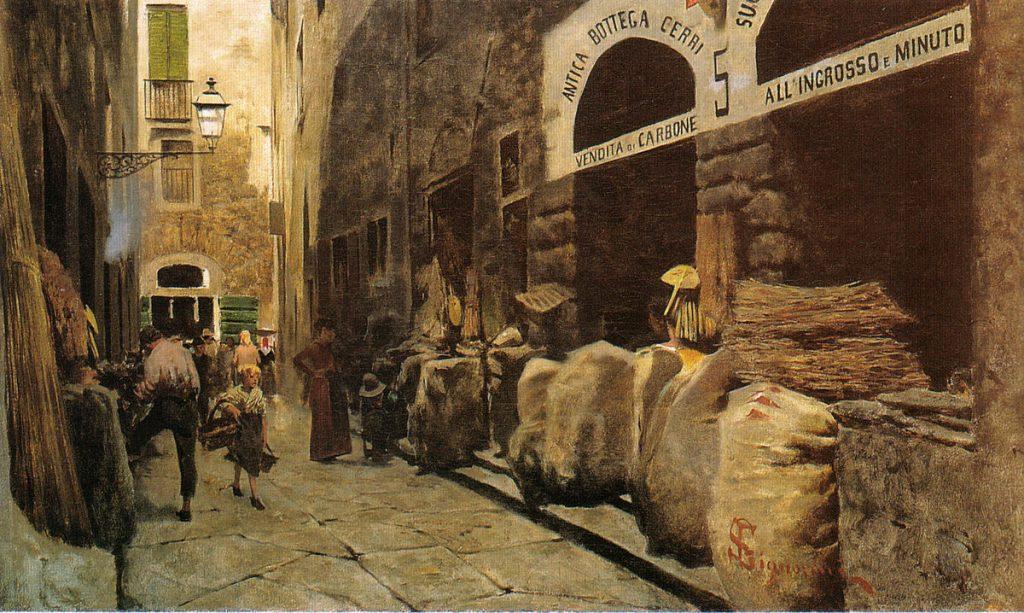 Telemaco Signorini La Via del fuoco 1881
