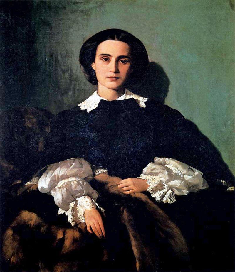 Antonio Puccinelli Ritratto nobildonna Marrocchi