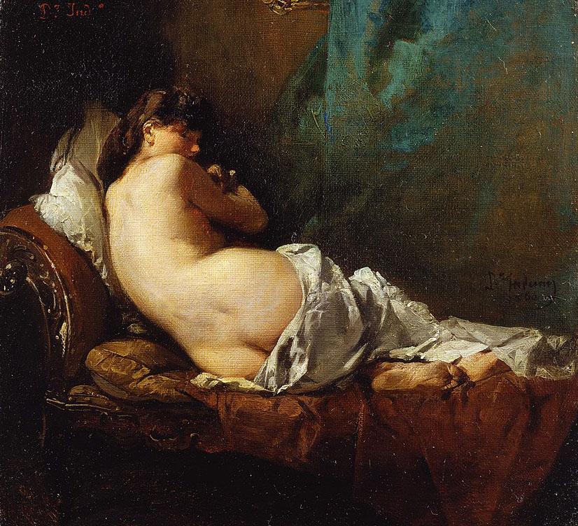 Domenico Induno Nudo di spalle