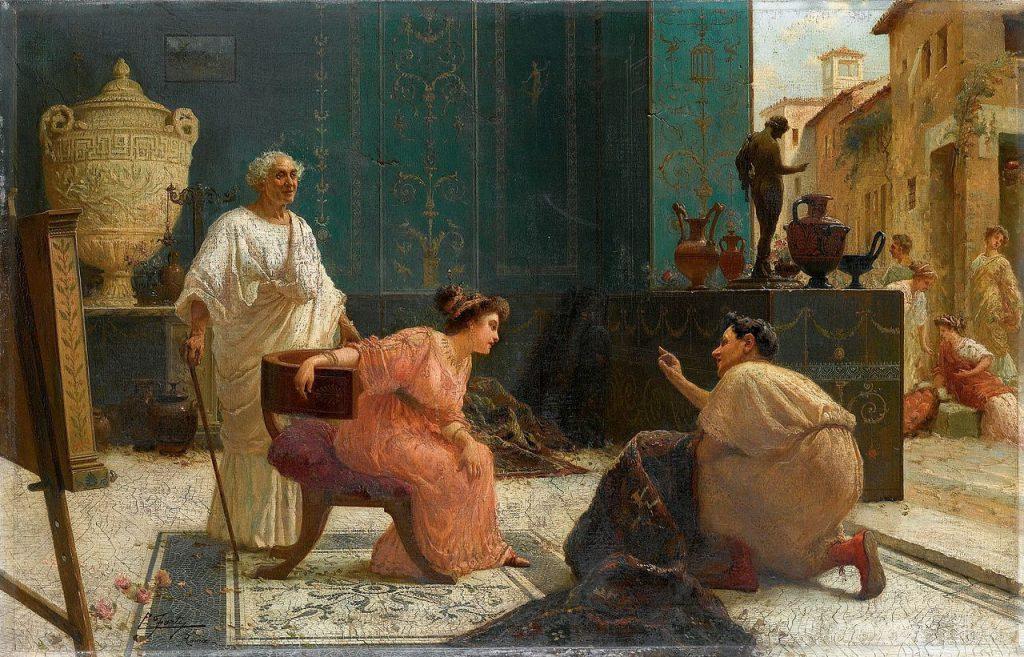Edoardo Ettore Forti Il venditore di tappeti