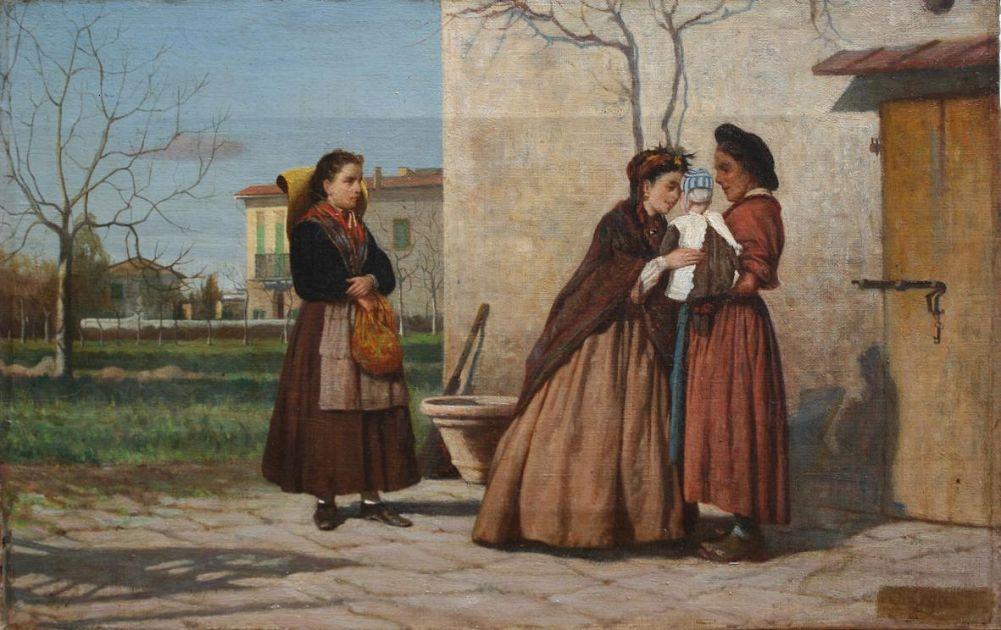 Silvestro Lega La visita alla balia 1869-70