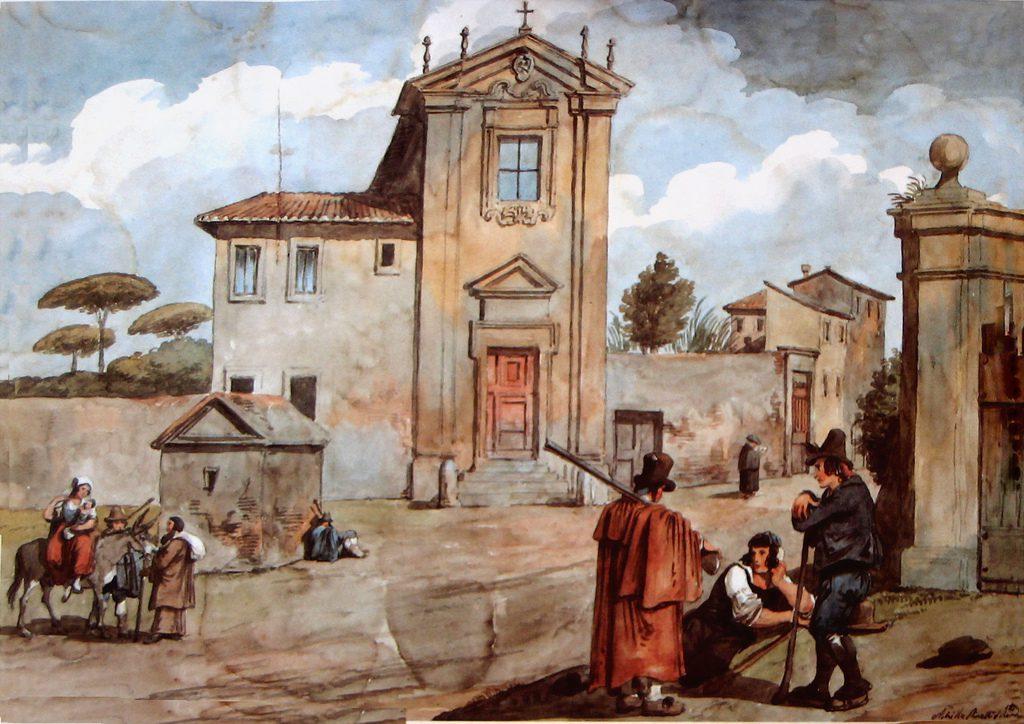 Achille Pinelli - Chiesa del Domine Quo Vadis