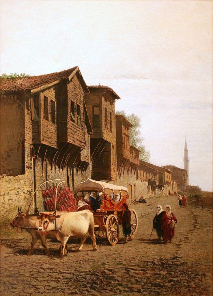 "Achille Glisenti - Quadro Olio su Tela The ""Koçu"" 1870"