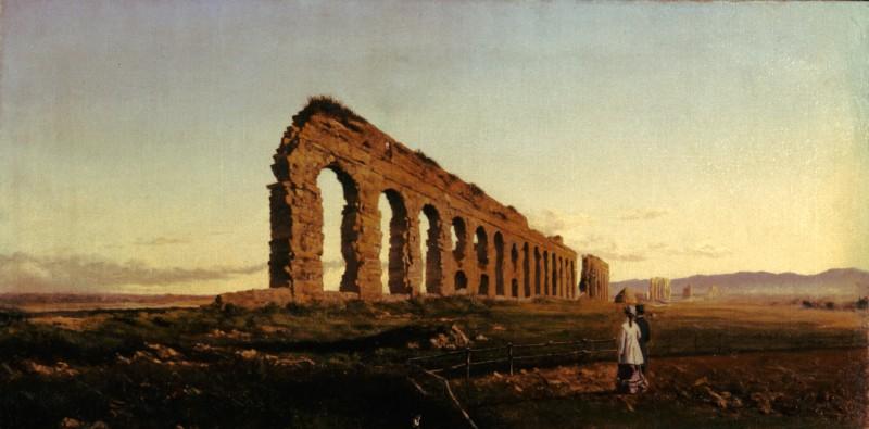 Adolfo Tommasi Visita all'acquedotto o Turisti nella campagna romana