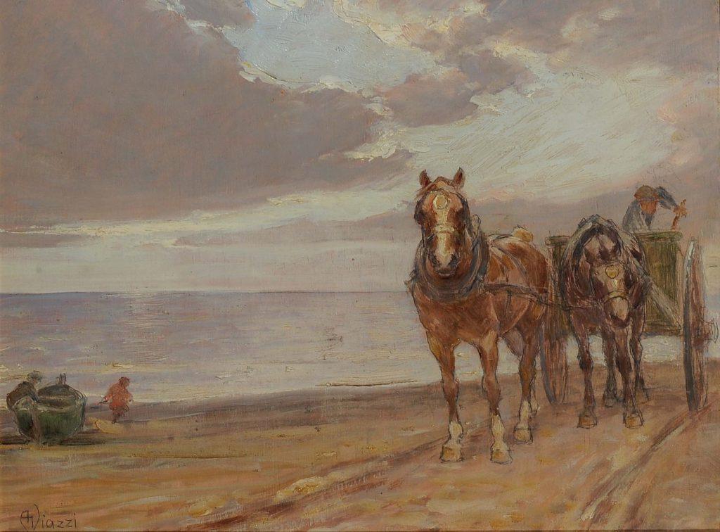 Alessandro Viazzi - Cavalli sulla spiaggia