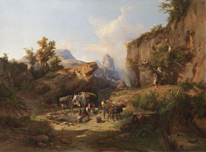 Andrea Markò Paesaggio rurale Accampamento durante un viaggio