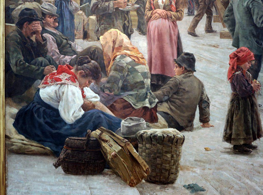 Angelo Tommasi gli emigranti 1896