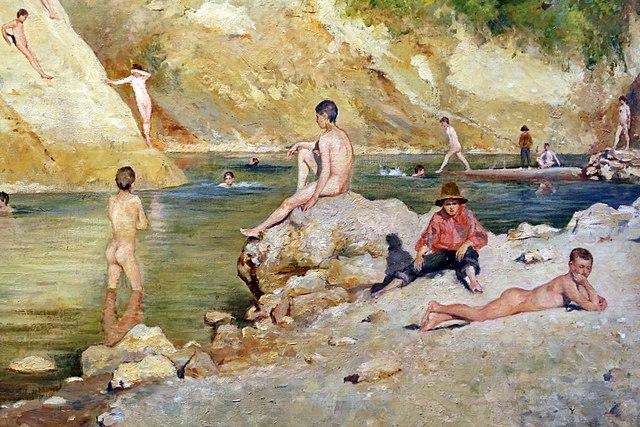 Antonio Salvetti - La nicchia estate sulle rive dell'elsa 1894