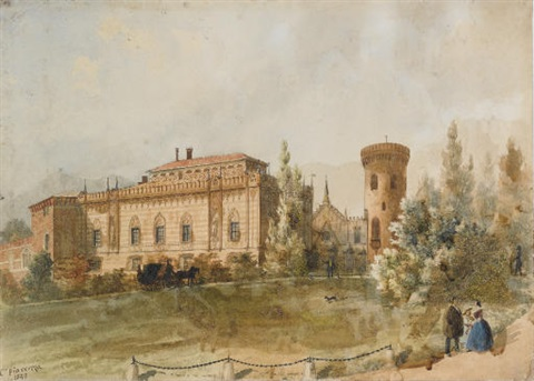 Carlo Piacenza il castello di envie con figure