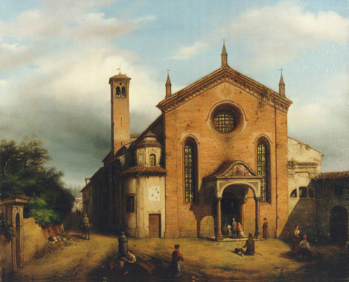 Carlo Canella Vista della chiesa di Santa Maria della Pace a Milano