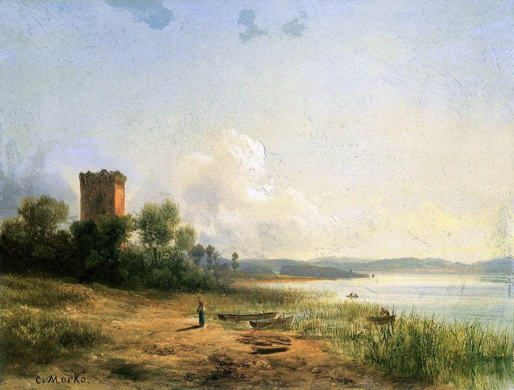 Carlo Markò Vista del lago Trasimeno