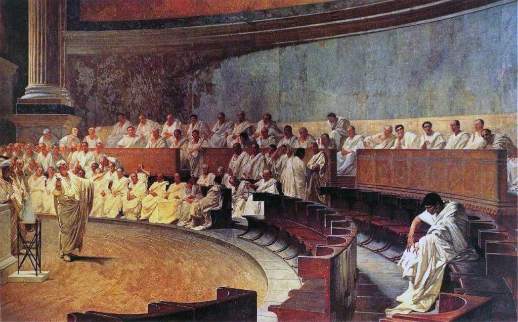 Cesare Maccari - Cicerone accusa Catilina in Senato