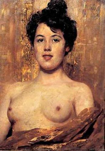 Cesare Tallone - Nudo di donna