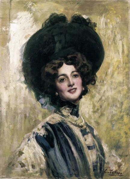 Cesare Tallone - Ritratto di Lina Cavalieri