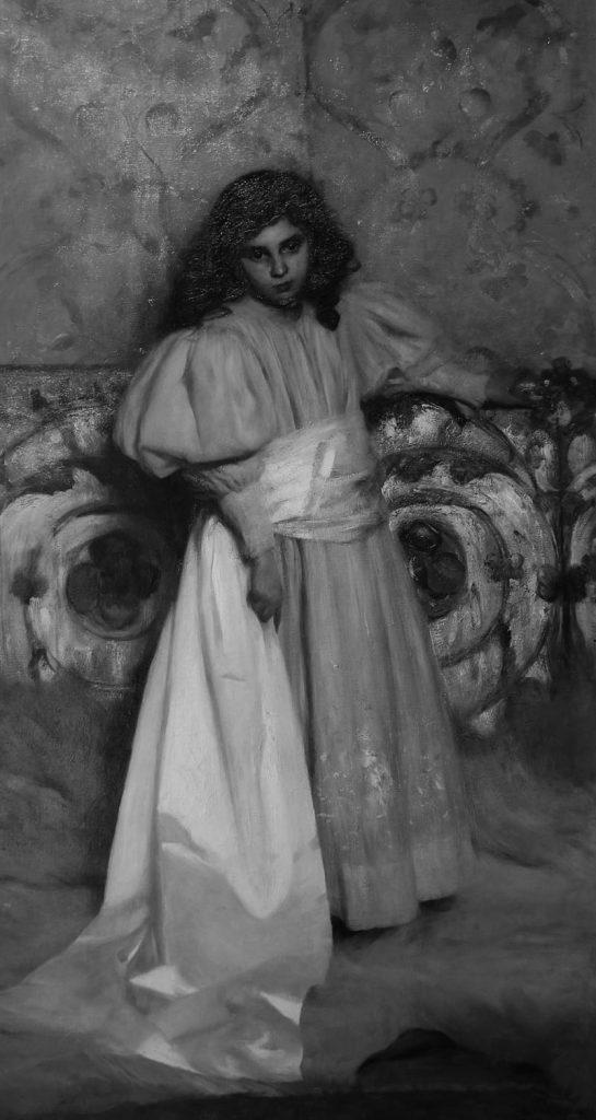 Cesare Tallone ritratto della figlia Irene 1897