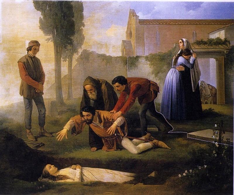 Enrico Pollastrini - Nella tomba di Pia de Tolomei