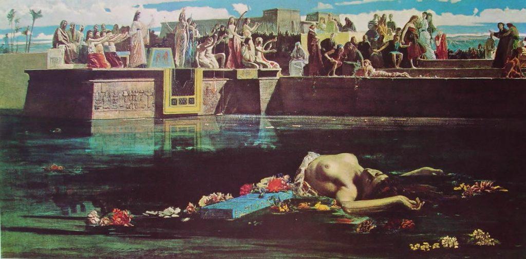 Federico Faruffini Il sacrificio della vergine al Nilo