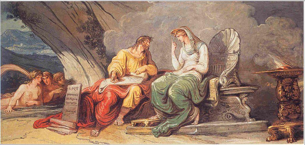 Felice Giani Numa Pompilio riceve dalla ninfa Egeria le leggi di Roma 1806