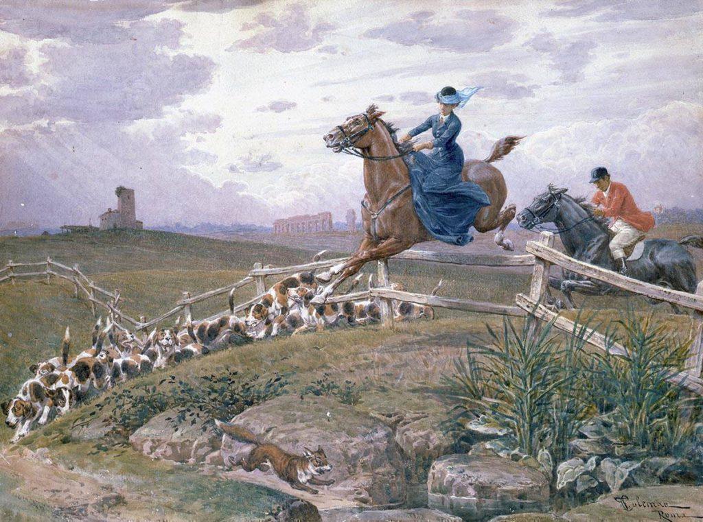 Francesco Coleman caccia alla volpe