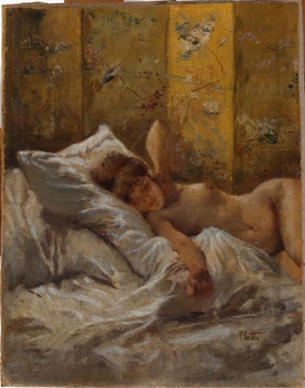 Francesco Netti Nuda sul letto