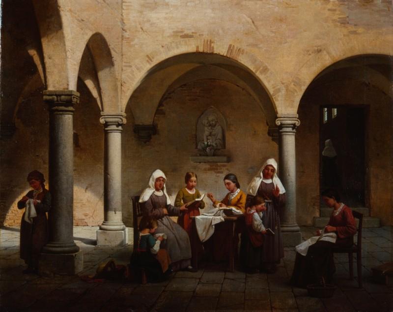 Gaetano Chierici La lezione al convento