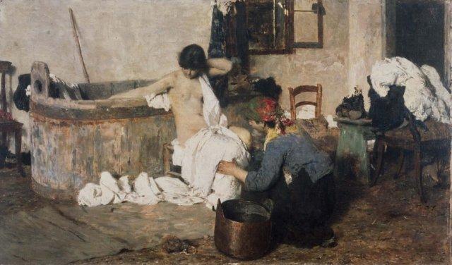 Giacomo Favretto Dopo il bagno