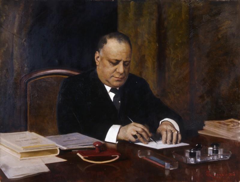 Giacomo Grosso Ritratto dell'onorevole avvocato Cesare Sarfatti
