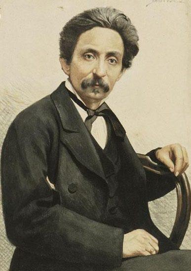 Giovanni Bartolena ritratto realizzato dal Borrani