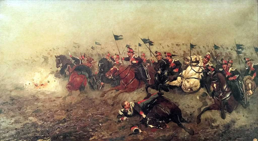 Giuseppe Aureli battaglia custoza lancieri