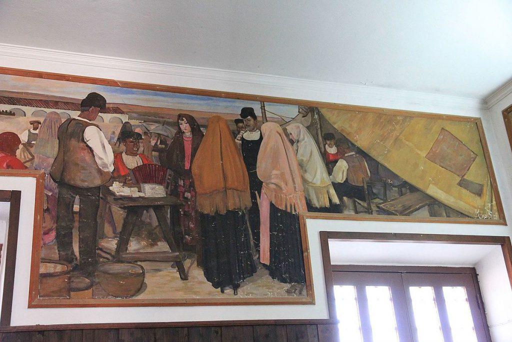 Giuseppe Biasi Affresci nella Stazione ferroviaria di Tempio Pausania