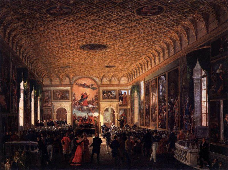 Giuseppe Borsato Commemorazione di Canova nella Scuola Grande della Carità