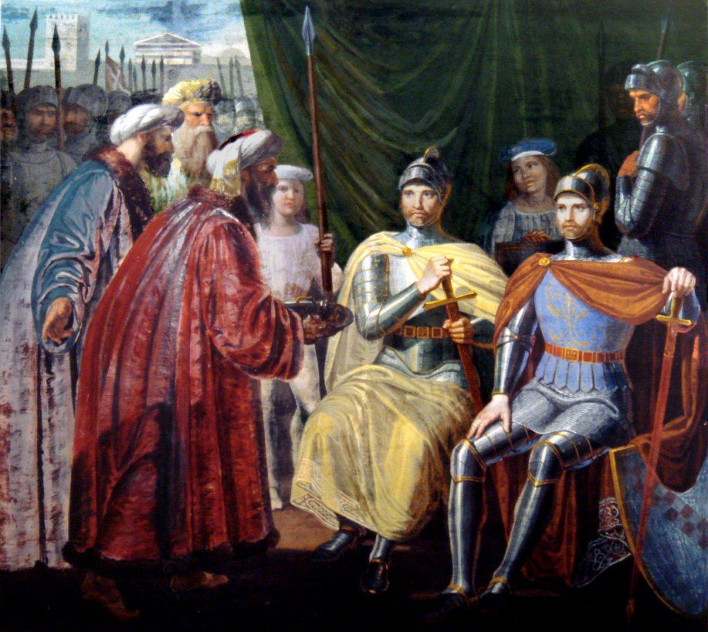 Giuseppe Patania Roger ii riceve le chiavi di Palermo