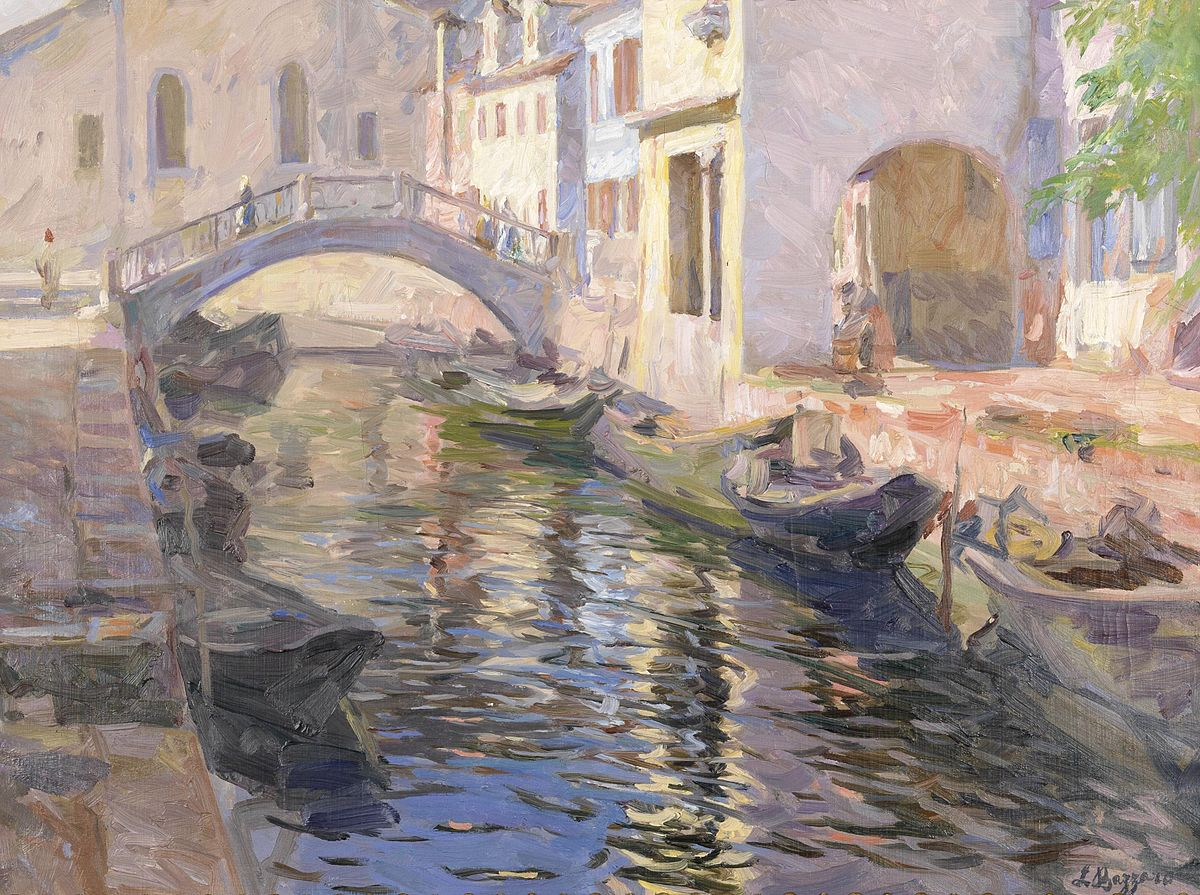 Leonardo Bazzaro Canale a Venezia