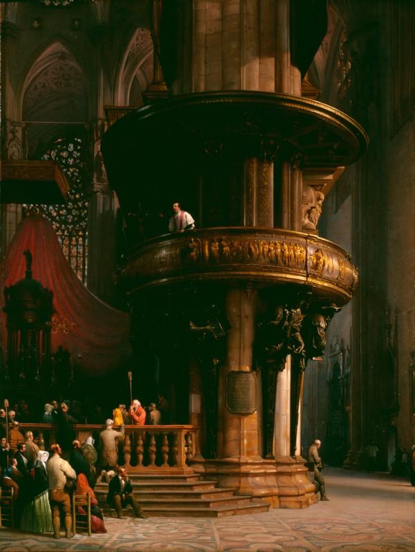 Luigi Bisi Predica nel Duomo di Milano