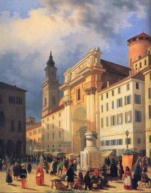 Luigi Marchesi La piazza di Parma 1852